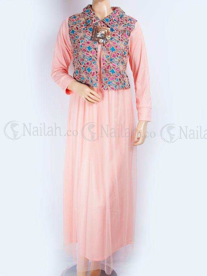 Busana Muslim OMG Tiana bahan Jersey + tile + Brokat Tile Harga Rp. 299.000,- SMS/WA: 087887182020 BB: 748A8C99 web: nailah.co FB: Nailah Indonesia