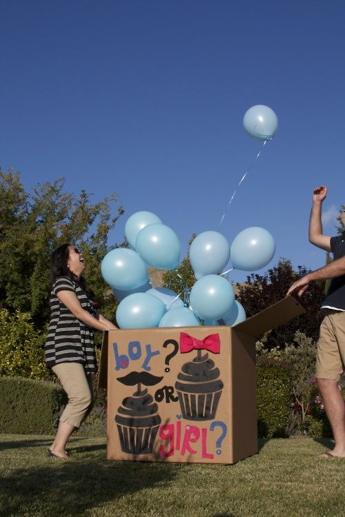 gender reveal idea. Totally doing this, kids can't wait!