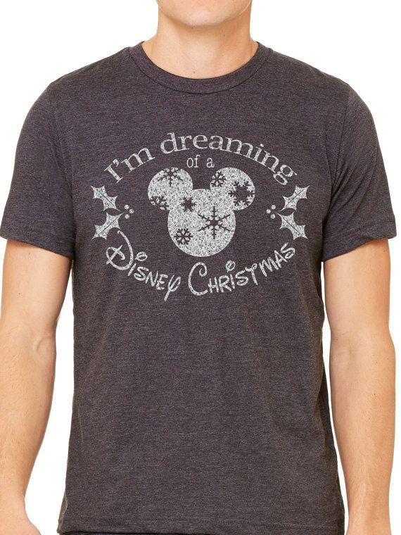 Mens  ik ben Dreaming van een Disney Kerst  vakantie shirt