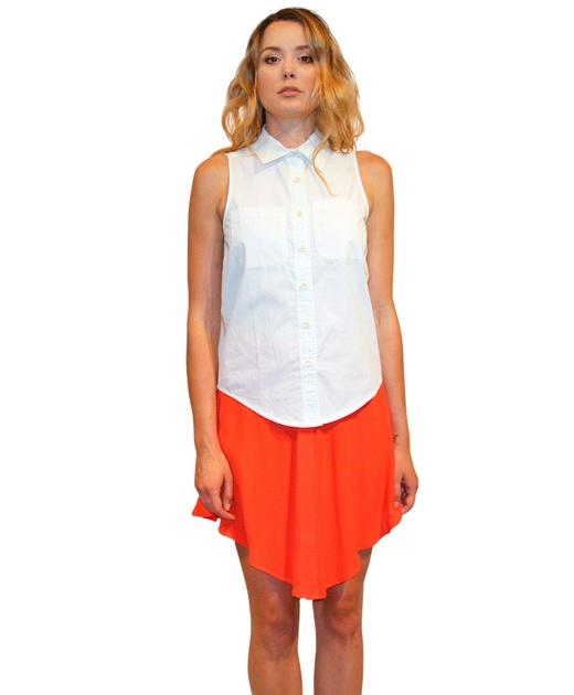 Sleeveless White Shirt from Handsom $89