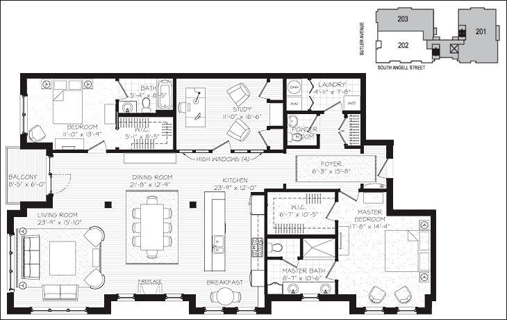 Luxury Condo Floor Plans | providence east side luxury condo condominium