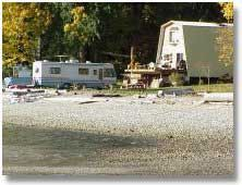 """Kent's Beach Cabins and Campsites"" in Powell River, British Columbia, Beach front Cabins"