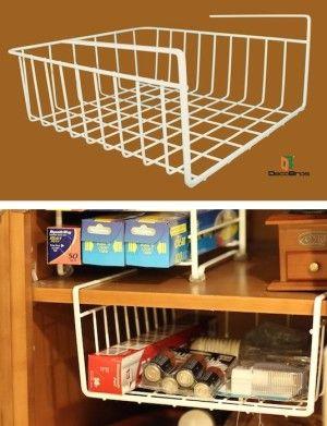 #21. Under-Shelf Basket -- 55 Genius Storage Inventions That Will Simplify Your Life