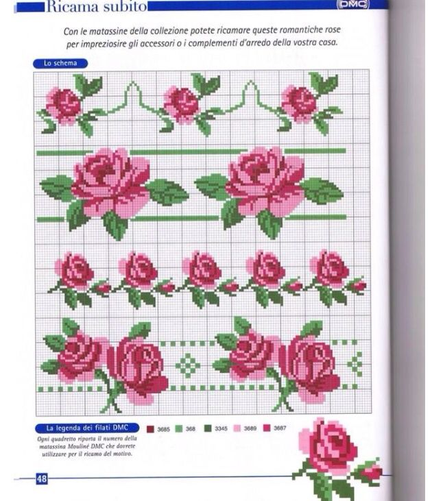 Cross stitch Rose paternt