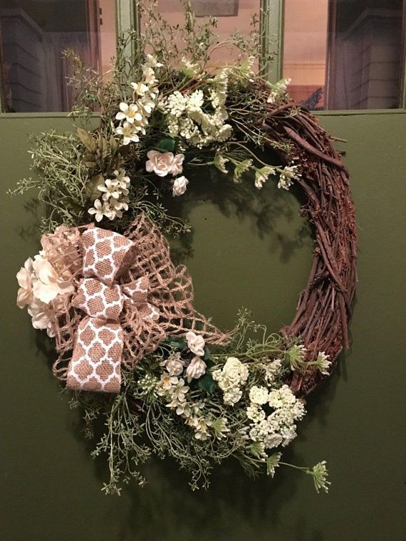 Wreaths For Front Door Everyday All Season Grapevine Spring Summer Farmhouse Primitive Country Year L Welcome Ideas House