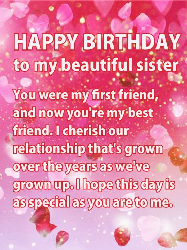 178 best birthday cards for sister images by birthday greeting shining pink happy birthday wishes card for sister tell your sister shes the shining spot m4hsunfo