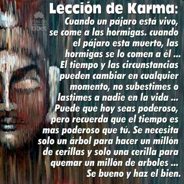 Lección de karma