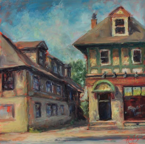 The Alley in Summer, Hydrostone – 14 Bells Fine Art Gallery