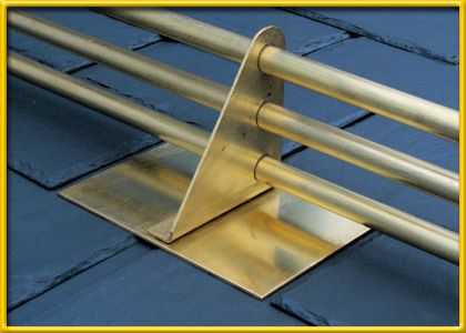 Our Two Or Three Pipe Snow Guard Is Available In Aluminum Or Brass With A  Brass Or Stainless Steel Base Plate For Slate, For Flat Tile And Shingle  Roofs.