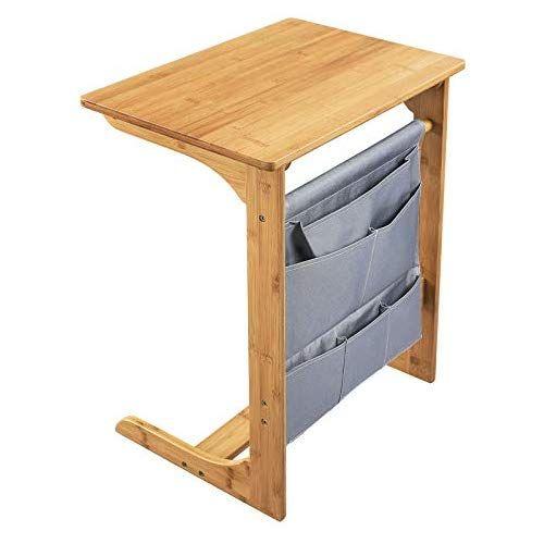 Songmics Mesa Auxiliar Para Sofa Mesa De Bambu Para Ordenador