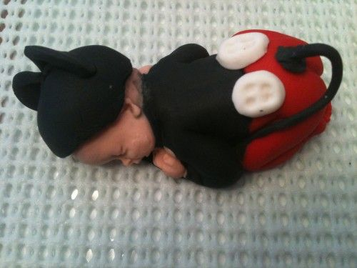 Mickey Mouse Baby Shower | Fondant Mickey Mouse Baby Shower Cake Topper .