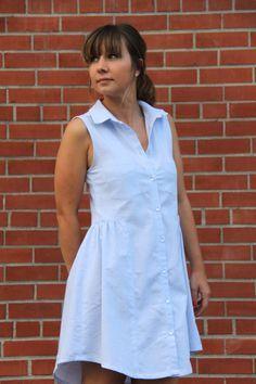 Alder shirt dress / Grainline Studio/ Chambray De fil en Étoile // Le fil à coudre d'Anna