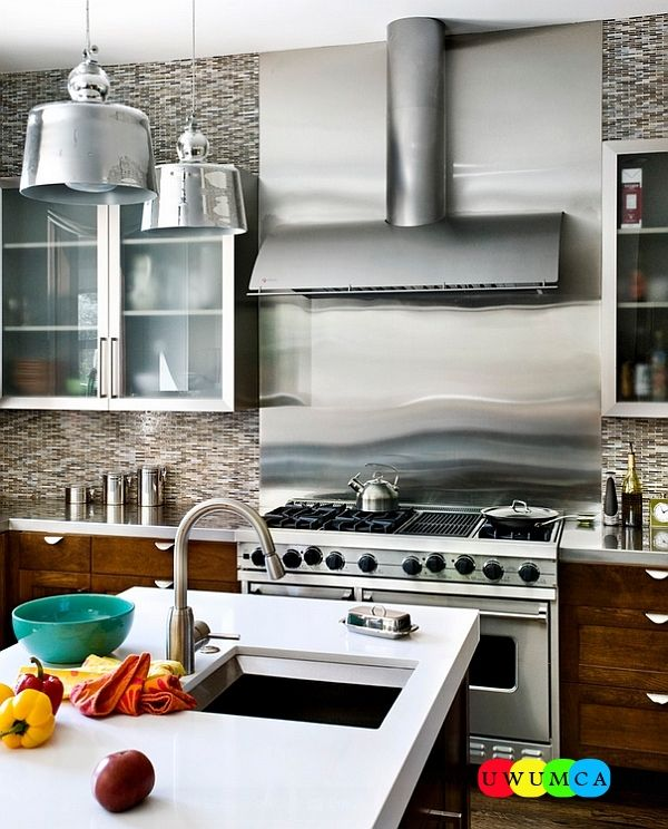 Kitchen:How To Clean Stainless Steel Kitchen Appliances Sinks Utensils Best Countertops Island Carts Table Chairs Dining Room Worktops Stainless Steel Backsplash In The Kitchen How to Clean Stainless Steel for a Sparkling Kitchen Appliances and Sinks then Utensils