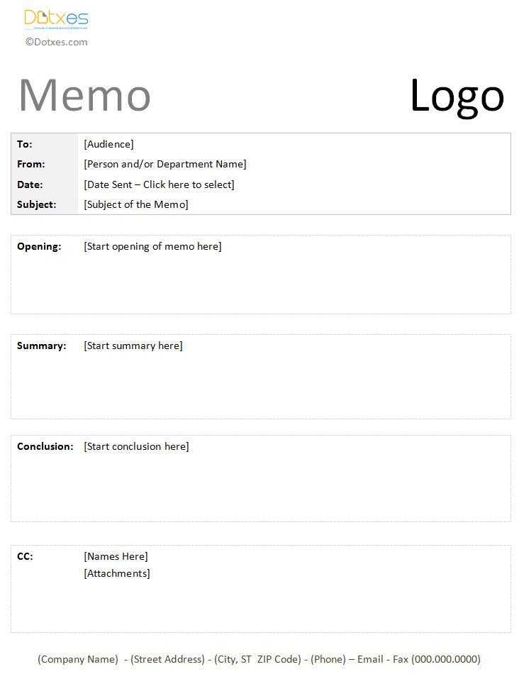 12 best images about Memo Templates Dotxes – Project Memo Template