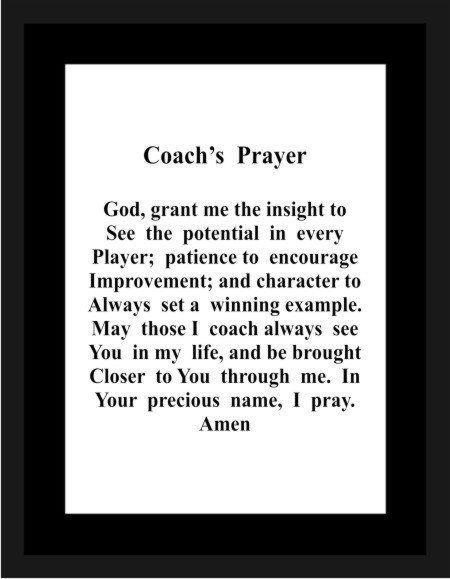 1100 Coach's Prayer