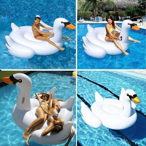 MarlJohns-Giant-Rideable-Swan-Inflatable-Float-Toy-75-Pool-Summer-Play-New