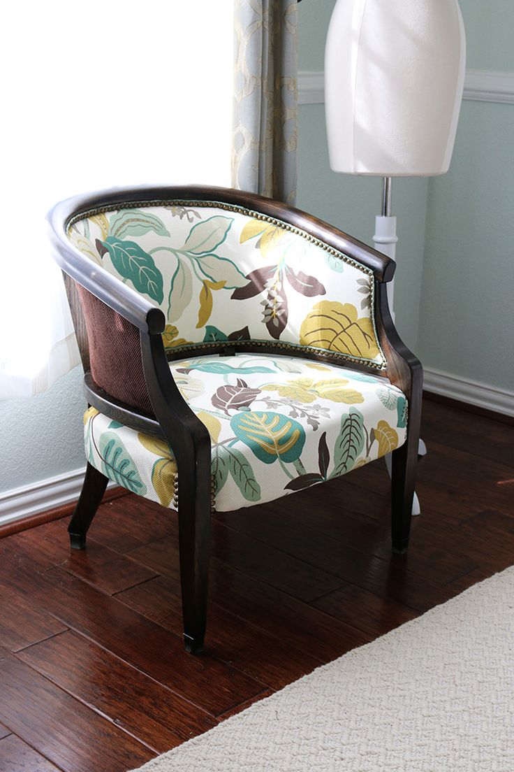 How to Reupholster a Wingback Chair StepbyStep Video