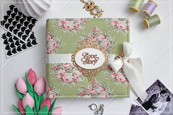 Custom Wedding Album Bridal Guest Book 5x7 Photo Album
