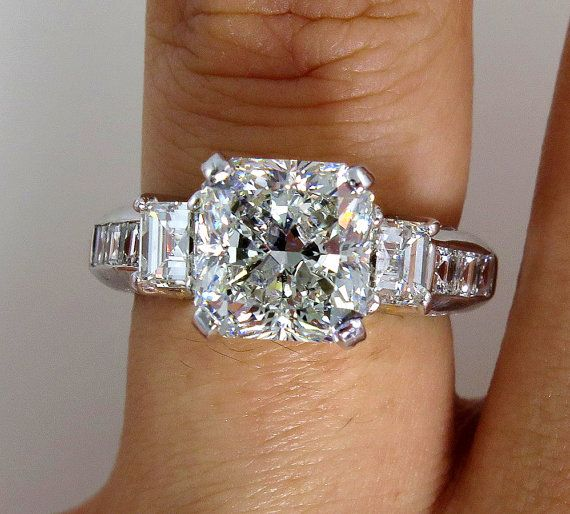 5.15ctw Estate RADIANT Cut and Asscher Cut by TreasurlybyDima