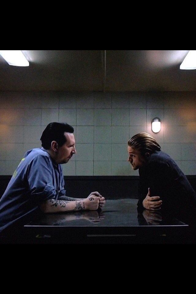 Marilyn Manson & Charlie Hunnam (Sons of Anarchy)Manson didnt do too bad at acting, even had a funny line also.