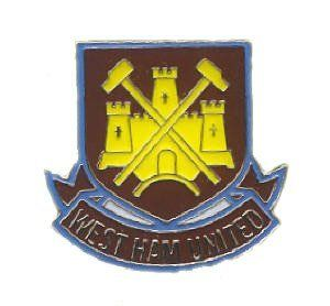 West Ham United FC Official Metal Crest Pin Badge by West Ham United F.C.. $7.44. Official West Ham United FC football club merchandise. Metal. stud fix at the back. shaped as the world famous official Hammers club crest. The Official West Ham United Fc Football Club Metal Pin Badge Is Shaped As The World Famous Official Hammers Club Crest. The Official West Ham United Fc Football Club Metal Pin Badge Is Stud Fix At The Back. The Official West Ham United Fc Football Club Meta...
