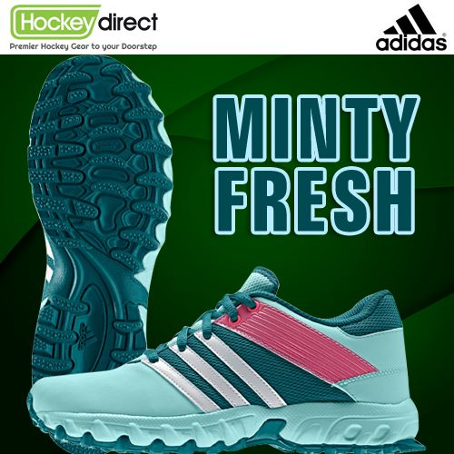 "Ladies, how cool are these?!   Adidas Adistar 4 Women #Hockey Shoe Mint: ""Band of Power"" ensures high energy return  lockdown support. #FieldHockey"
