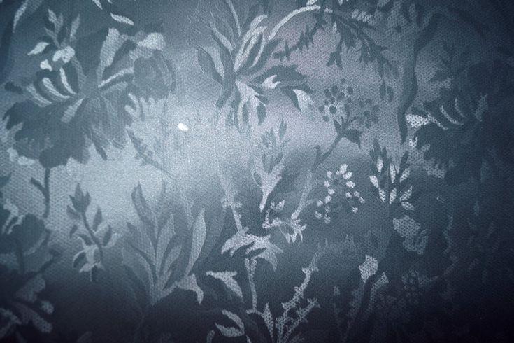Tafelzeil blaadjes matte glans donkergrijs/groen