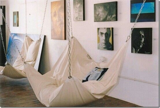 I want one of these in my bedroom... and maybe one in my living room ;) these look soo cozy...
