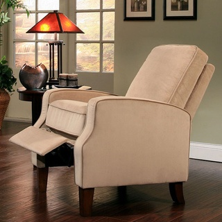 @Overstock - This Pushback Reclining Armchair is a relaxing and stylish addition to your home & 24 best recliners images on Pinterest | Recliners Leather chairs ... islam-shia.org