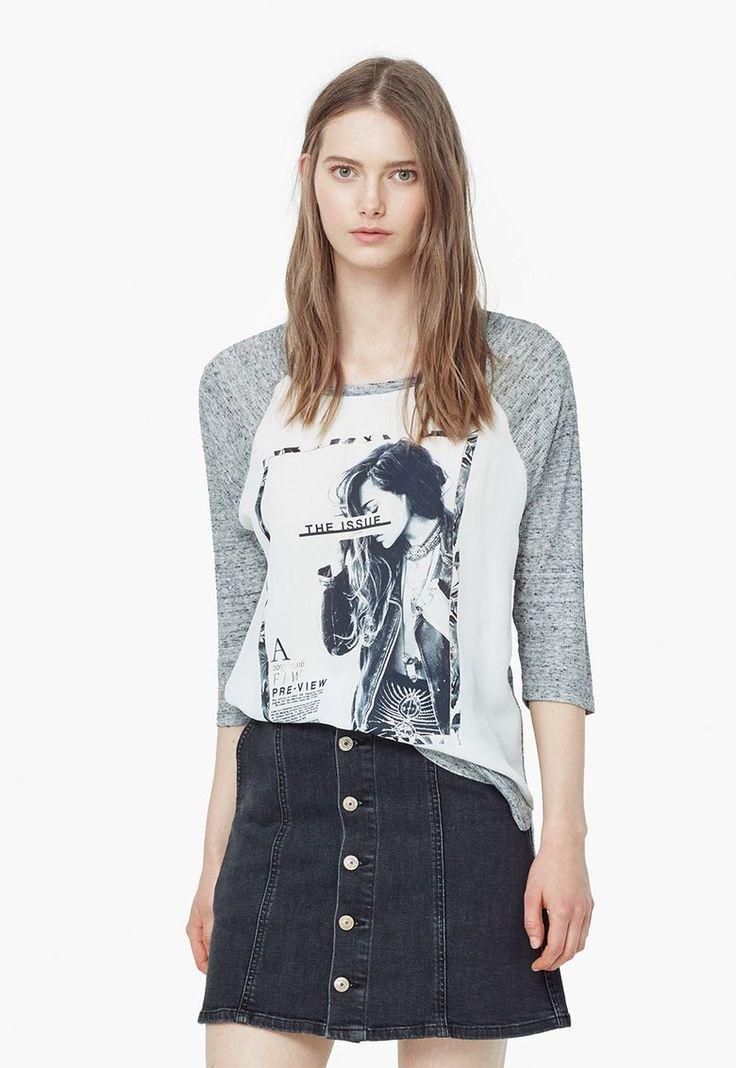 Mika Melange Szürke Mintás Pulóver a MANGO márkától és további hasonló termékek a Fashion Days oldalán