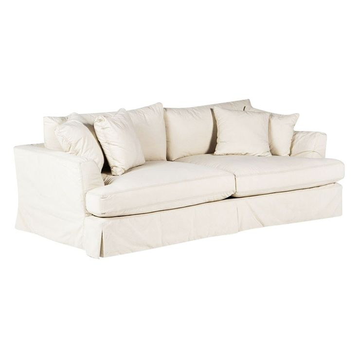 Slipcover Furniture Living Room: Maxine Slipcover Sofa - Cream $1,596