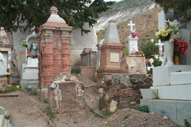 Old graveyard at Real de Catorce, San Luis Potosi.  Some graves are from the 18th century.