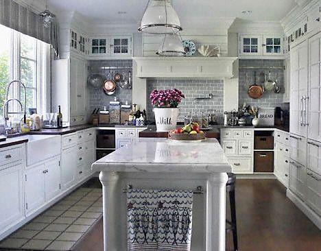 White Kitchen Decorating Idea - traditional - kitchen - other metro - Susan Serra, CKD