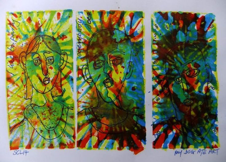ARTFINDER: Party by Steve Clement-Large - I like to party - everybody does ! Sing it to yourself and it will be in your head all day. The best way to avoid this is to buy the artwork. That is genuine...