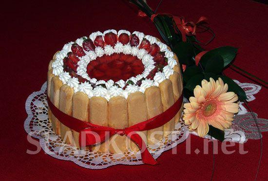 Piškotový dort s banánovým krémem