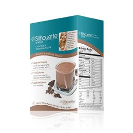 Chocolate Colossal Shake & Pudding  Shakes are a common staple for people working on dropping weight. They're easy, they're fast, and perfect for breakfast or a snack. Too many shakes are chalky, floury, gritty and flavorless. . So if you examine your Chocolate Colossal Shake, you'll find it comes with a full 15 grams of protein, 4 sugar carbs and 110 calories. It's fortified with lots of vitamins and minerals, and is an excellent source of protein. Mix it using your Silhouette.