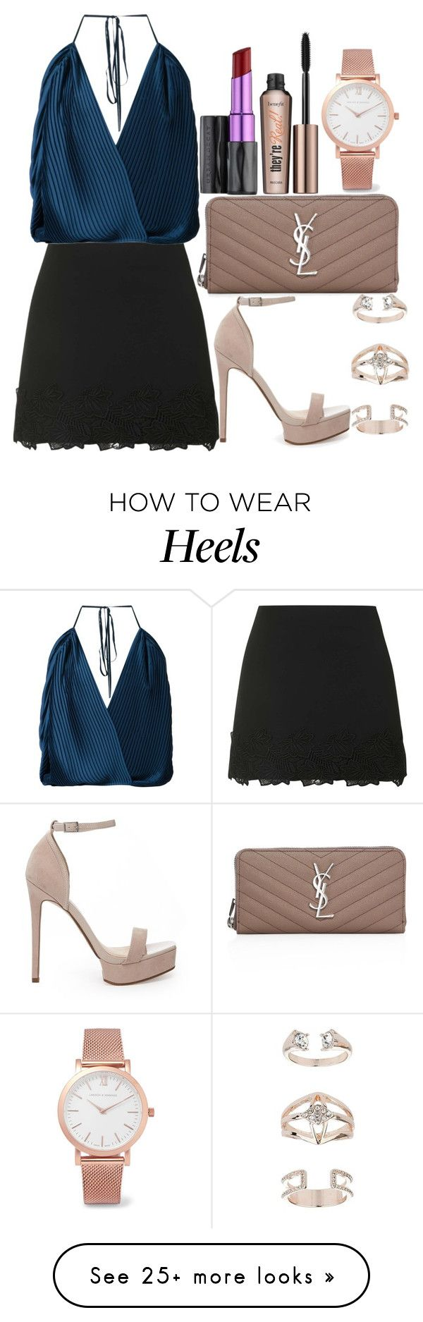 """""""Untitled#1437"""" by mihai-theodora on Polyvore featuring Topshop, Tome, ASOS, Benefit, Yves Saint Laurent, Urban Decay and Larsson & Jennings"""