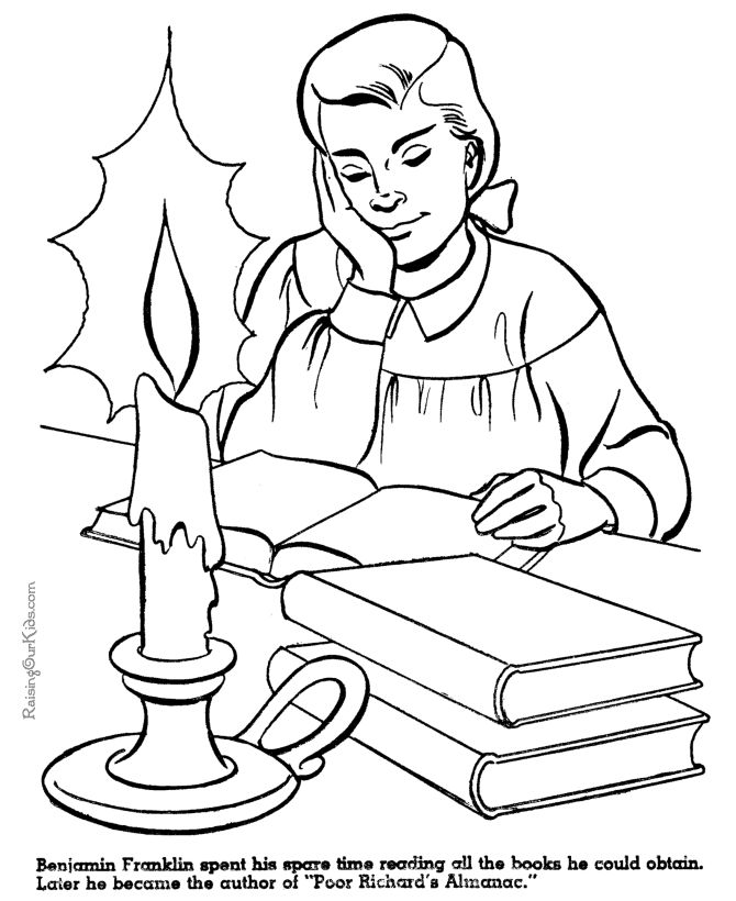 ben franklin coloring page - 136 best images about coloring pages for all ages on
