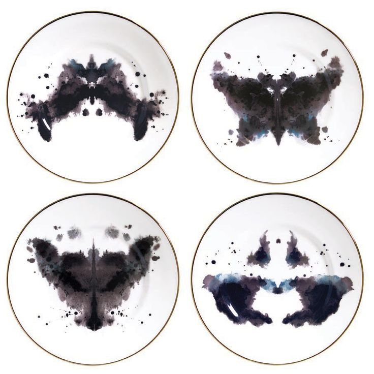 LOVE THESE!!! Rorschach plates. I couldn't find a link to buy them, but I love this idea