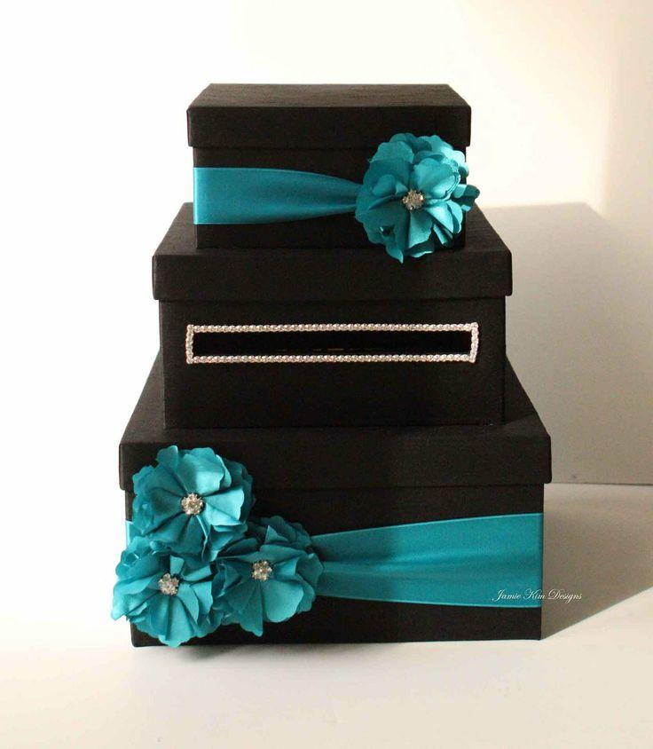 wood wedding card holders%0A Wedding Card Box Money Box Gift Card Holder by jamiekimdesigns
