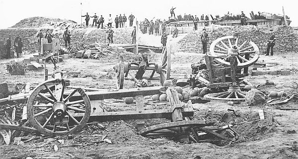 Dybbøl after the final attack the 18. of April 1864 - Prussian photo