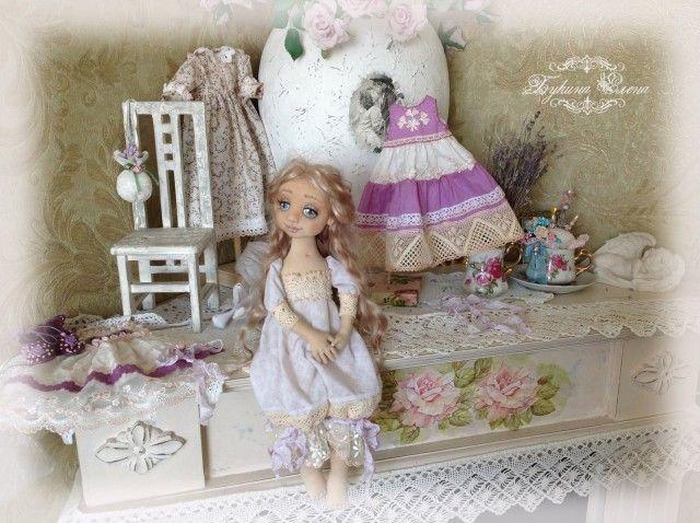 Лэйла, коллекционная текстильная кукла.