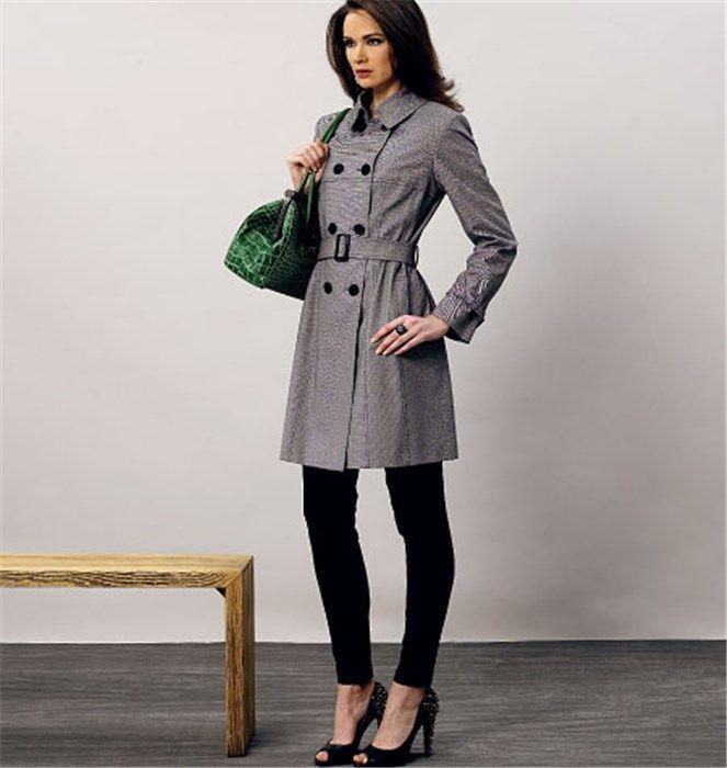 Patron de manteau et ceinture - Vogue 8884 - Rascol