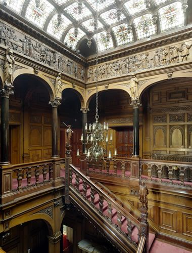 Two Temple Place, in London, was once called Astor House. It's a neo-Gothic mansion built for William Waldorf Astor in 1895 - the Stair Hall