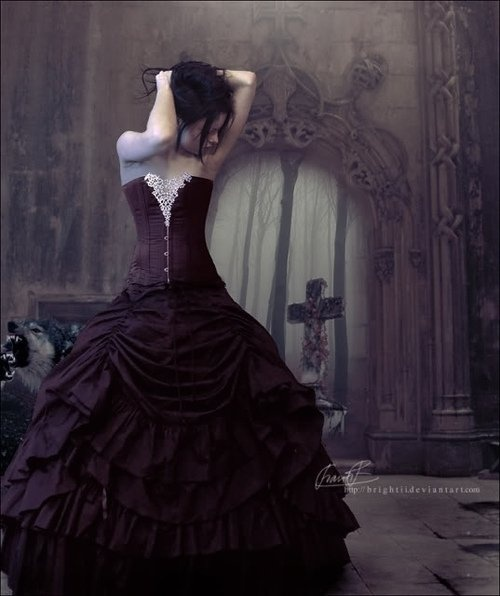 Great Goth Wedding Dress Or Even Halloween Romantic