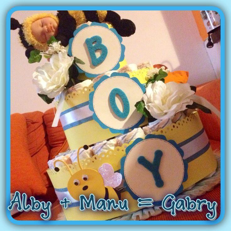 Diaper Cake for Gabry.... My baby
