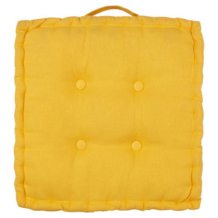 Matraskussen Avon maakt je tuinstoel extra comfortabel. Afmeting: 40x40 cm. Kleur: geel. #tuin #tuinkussen #KwantumLente