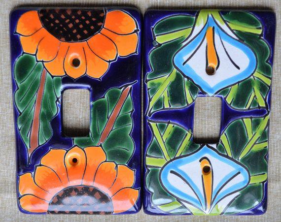 2 Talavera Mexican Pottery 3 X 5 light single by MexicanTalavera