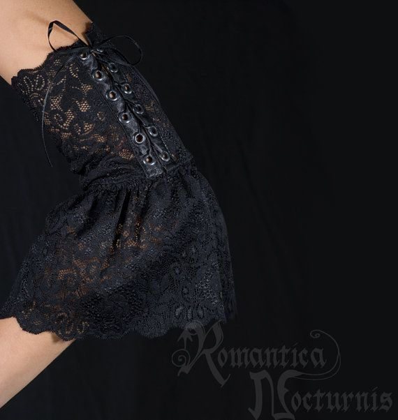 Stretch lace sleeves by RomanticaNocturnis on Etsy, $50.00