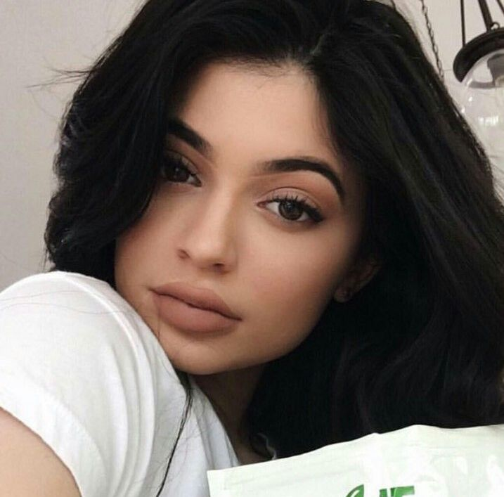 Kylie Jenner wearing Exposed the new lipkit restock today